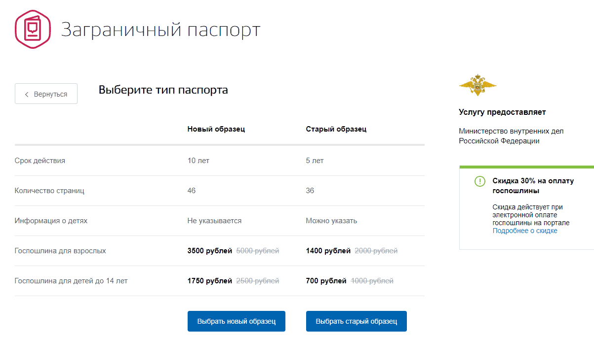 Получение загранпаспорта гражданина РФ